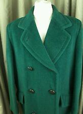 RARE vintage anni'80 AUSTIN REED ALPACA / LANA 80/20 Verde Cappotto 16-18