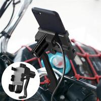 Schwarz Alu Motorrad Spiegel Schraube Handy Halterung USB Ladegerät 360° Halter