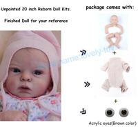 20 inch Unpainted Silicone Vinyl Dolls Kits Reborn Baby DIY Dolls Model + Body
