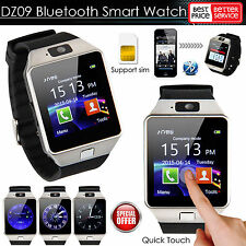 Sport Bluetooth Smart Pedometer Tracker Watch DZ09 for IOS Anroid iPhone Silver