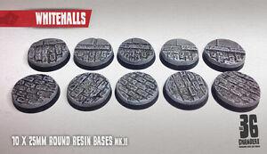 Whitehalls 10 x 25mm round resin cobblestone bases (mk II)