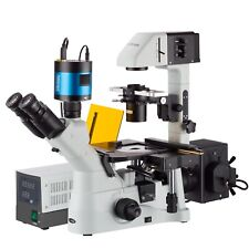 Inverted Phase-Contrast Fluorescence Microscope 40X-1500X w 6MP Low-light Camera