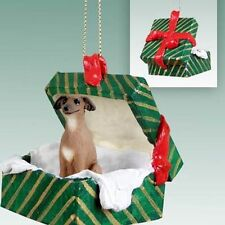 Italian Greyhound Dog Green Gift Box Holiday Christmas ORNAMENT