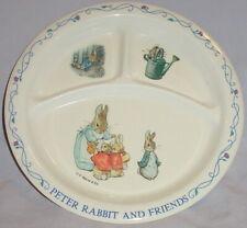 "Peter Rabbit & Friends Childs Divided Plate/Melamine by Eden/© F Warne & Co/8.5"""