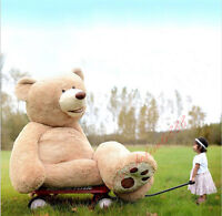 Great gift Giant big UK teddy Bear plush soft toys doll (only cover)100cm-340cm