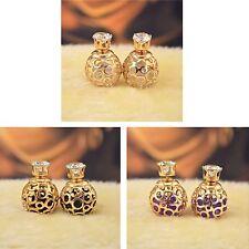 Women's Unique Hollow Ball Design Double Side Luxury Earrings Jewellery Gift UK