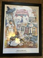 Field Of Dreams Original Artwork! Wrigley Field Lithograph by Don Lindstrom