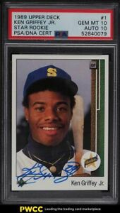 1989 Upper Deck Ken Griffey Jr. ROOKIE RC PSA/DNA 10 AUTO #1 PSA 10 GEM MINT