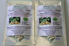 Organic Pueraria mirifica 350mg 120 Vegetarian Capsules - White Kwao Krua - Bio