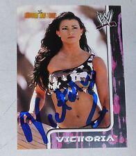 Victoria Signed WWE 2002 Fleer Royal Rumble Card 61 Pro Wrestling Diva Autograph
