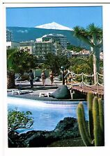 Postcard:  Vista con Teide, Puerto de la Cruz, Tenerife, Spain