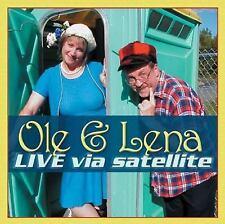 NEW - Ole & Lena: Live Via Satellite by Bruce Danielson; Ann Berg