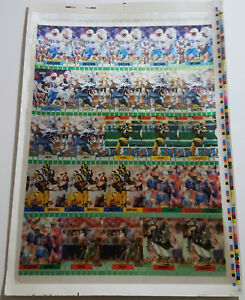 1994 Sportflics Super Bowl Set Uncut Sheet EMMITT SMITH Deion Sanders JERRY RICE