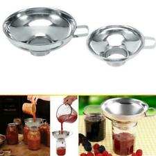 Stainless Steel Wide Mouth Canning Funnel Rice Cereal Kitchen Tool Hopper Z4G6