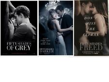 SET OF 3 FIFTY SHADES OF GREY/Darker/Freed Original Promo Movie Posters MINT