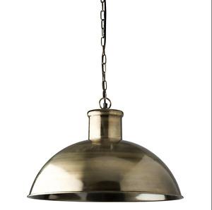 Spitalfield Pendant Light - Antique Brass Finish
