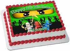 NINJAGO    REAL EDIBLE ICING  CAKE TOPPER PARTY IMAGE FROSTING SHEET