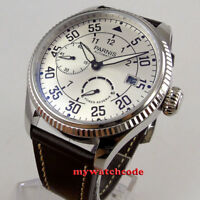 45mm Parnis white dial date power reserve ST2530 Automatic Movement Mens Watch