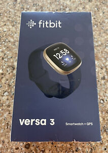 Fitbit Versa 3 Fitness Smartwatch Heart Rate Monitor BRAND NEW Factory Sealed!