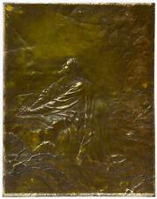 Relieftafel Kupfer getrieben Jesus Christus J F H Bouchette 1899 Arnhem 52x41 cm