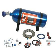 NOS Nitrous System Powershot Wet 125 hp 10 lb. Bottle Blue Carburetor Kit