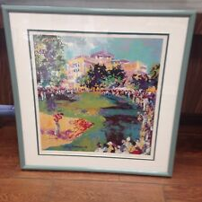 Leroy Neiman Signed Westchester Classic Colorful Print in Frame