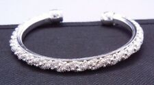 SILVER PLATED BEADED MESH CUFF BRACELET NEW! SHIPS FREE!