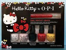 Opi Hello Kitty Mini Nail Polish Set + Free Art Tool - Ddh04 667 H82 H88 H89 H91