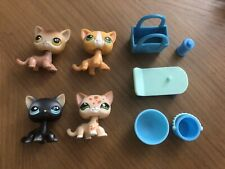 Littlest Pet Shop Lps Authentic Shorthair Kitten Cat Lot #19 #72 #852 #994