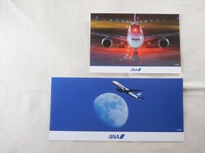 [2] JAPAN All Nippon Airways Boeing 787 777 (wide) Postcard ANA