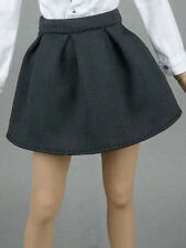 1/6 Phicen, Cy Girl, ZC, Hot Toys, Kumik & NT Female Black Ribbed Pleated Skirt