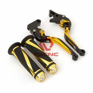 Foldable&Extend Brake Clutch Lever Grip For KLX150S VERSYS 1000 ZZR600
