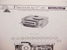 1978 ARTHUR FULMER 8-TRACK TAPE PLAYER/AM-FM RADIO SERVICE MANUAL MODEL 16-6500