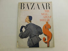 February 1950 HARPER'S BAZAAR Magazine Fashion Classic Ads