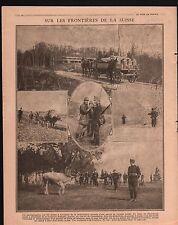 WWI Poilus Armée Suisse Blockhaus Casemate Blockhouse Cows 1917 ILLUSTRATION