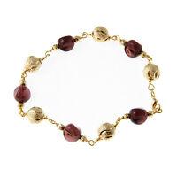 Margaret - 18K Gold Plated Brown Acrylic Bead Bracelets