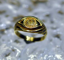 Authentic Real 10K Gold ring Celtic Protection Evil Eye Ring Jewelry size 6