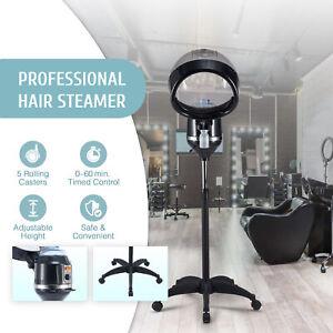 Professional Hair Steamer w 5 Wheel Base Hooded Salon Equipment Color Processor