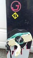 Belle planche de Snowboard marque JESTER modèl FR63 avec fixations