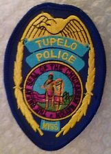 Patch- Tupelo MISS US Police Patch (New* 105x75 mm)