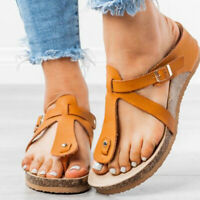 Fußbett Sandalen Damen Zehentrenner Pantoletten Schlappen Sommer Hausschuhe 39