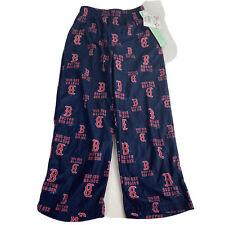 MLB Boston Red Sox Baseball Team Logo Pajama Pants Kids Boys Size S 6/7