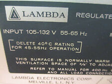 Lambda 36V 8A Linear Power Supply LM E36 Tested Good