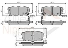 Allied Nippon Rear Brake Pad Set Fits Nissan Renault Suzuki WBX386