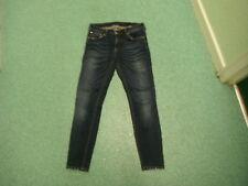 """ZARA femme jeans moulant taille 30 """" jambe 29 """" décoloré bleu foncé Femmes Jeans"""