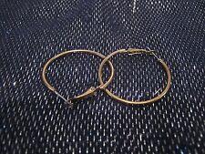 tone metal earrings 1¼ ins diameter Wonderful simple classic style hoop gold