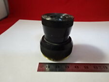OPTICAL COLLIMATOR EYEPIECE LENS HEAVY BRASS MOUNTED OPTICS AS PICTURED &99-42
