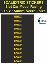 Slot car Scalextric stickers Model Race DeWALT Logo Lego decal adhesive vinyl T