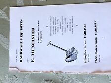 A2e ephemera advert undated carlisle e muncaster hardware