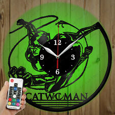 LED Vinyl Clock Catwoman LED Wall Art Decor Clock Original Gift 2759
